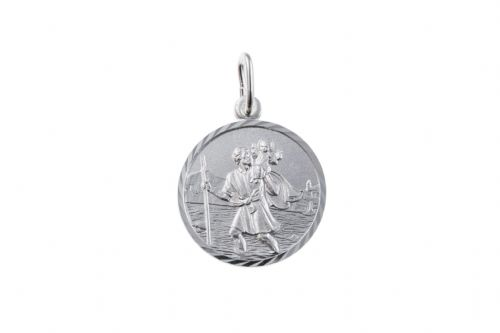 Sterling Silver St. Christopher Including Chain BU0171